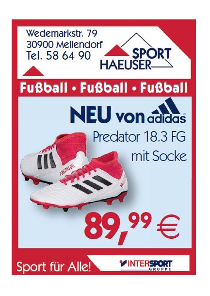 Adidas Fußballschuh